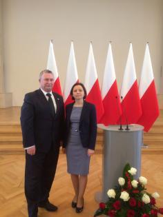 Ministerialne wyróżnienie dla pani kierownik OPS w Dąbrowie